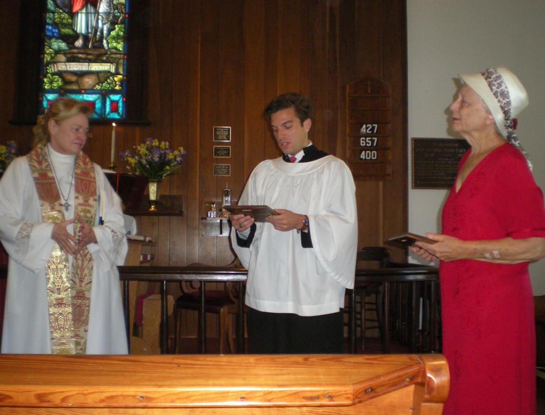 Miles at church